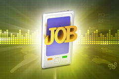 Phone with job application Royalty Free Stock Image