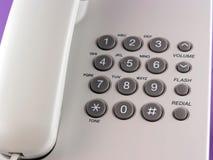 Phone keyboard. Isolated stock photo