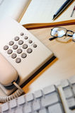 Phone and keyboard Royalty Free Stock Photos