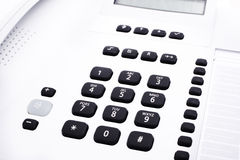 Phone keypad. Close up shot of grey phone keypad Stock Photos