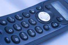 Phone keypad. Close-up of phone keypad (shallow DOF, blue tint Stock Photo