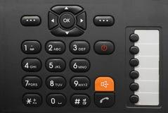 Phone keypad. Black office phone keypad closeup royalty free stock photos