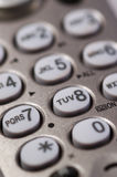 Phone Keypad. Grey Phone Keypad. Vertical shot royalty free stock photos