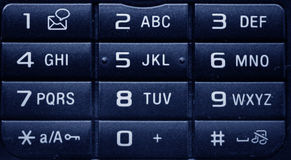 Phone keypad. Close-up shot of the numbers on a telephone keypad Stock Images