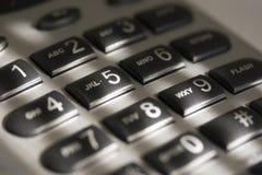 Phone Keypad. A close-up of a keypad on a phone Stock Image