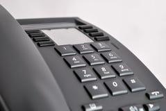 Phone keypad. Office phone keypad on gray background stock photography