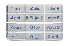 Phone keypad. On white background Stock Image