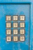 Phone keypad. Blue Royalty Free Stock Image