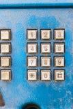 Phone keypad. Blue Stock Photo