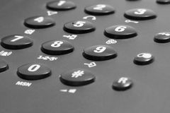 Phone keypad detail Royalty Free Stock Photography