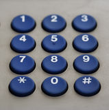 Phone keypad numbers stock image