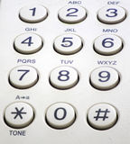 Phone keypad 2. Telephone keypad the number and the symbol Royalty Free Stock Images