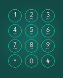 Phone keypad. In touchscreen device Royalty Free Stock Photography