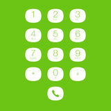 Phone Keypad for Touchscreens Royalty Free Stock Photos