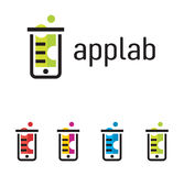 Phone laboratory logo in different colors Royalty Free Stock Photos