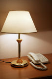 Phone and lamp Stock Image
