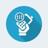 Phone levels icon. Vector illustration of single isolated phone levels icon Stock Photos
