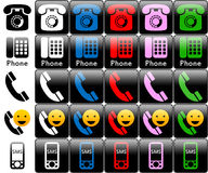 Phone logos. Ready for graphics applications, web site, applications, menu, e-commerce, etc etc Stock Photography