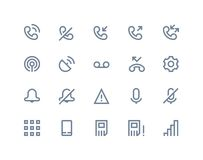 Phone logs icons. Line series Stock Photography
