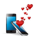 Phone love connection. internet communication Stock Images