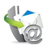 Phone mail at, contact us Stock Photo