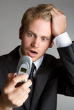 Phone Man Royalty Free Stock Photography