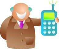 Phone man vector illustration