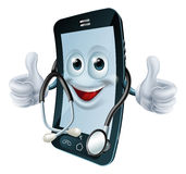 Phone man with a stethoscope Stock Photography