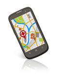 Phone Map Royalty Free Stock Photo