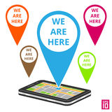 Phone map Royalty Free Stock Photography