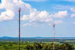 Phone mast signal Royalty Free Stock Images