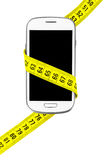 Phone measuring tape Stock Images