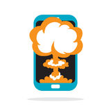 Phone Meltdown Royalty Free Stock Images