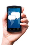 Phone message Royalty Free Stock Photography