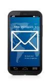 Phone message Stock Photo