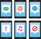 Phone Message Symbols Royalty Free Stock Image