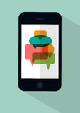 Phone messages concept illustration Stock Photos