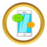 Phone messages vector icon Stock Image