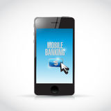 Phone mobile banking illustration design. Over a white background Royalty Free Stock Photos
