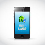 Phone mobile banking illustration Royalty Free Stock Photography