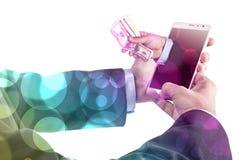 Phone And Money Stock Photo