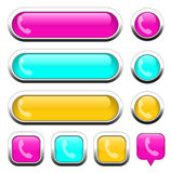 Phone multi-colored design elements. For website or app. Vector eps10 Stock Photo