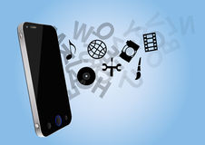 Phone multimedia Royalty Free Stock Photos