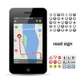 Phone navigation Stock Photography