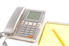 Phone and notebook Royalty Free Stock Photography