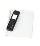 Phone and notepad Royalty Free Stock Photos