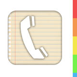 Phone number and address book Stock Images