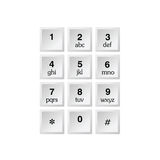 Phone number with alphabet kayboard  Stock Image