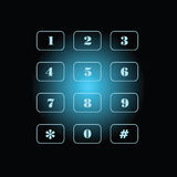 Phone number on black and blue background Stock Images