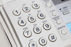 Phone number buttons Royalty Free Stock Photography